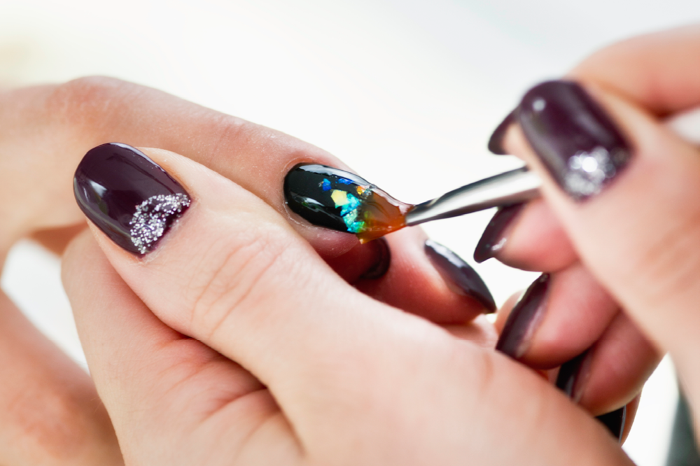 Impressive and super simple diy nail art design ideas footfiles metallic graffiti nail art microgenistock glam graffiti prinsesfo Image collections