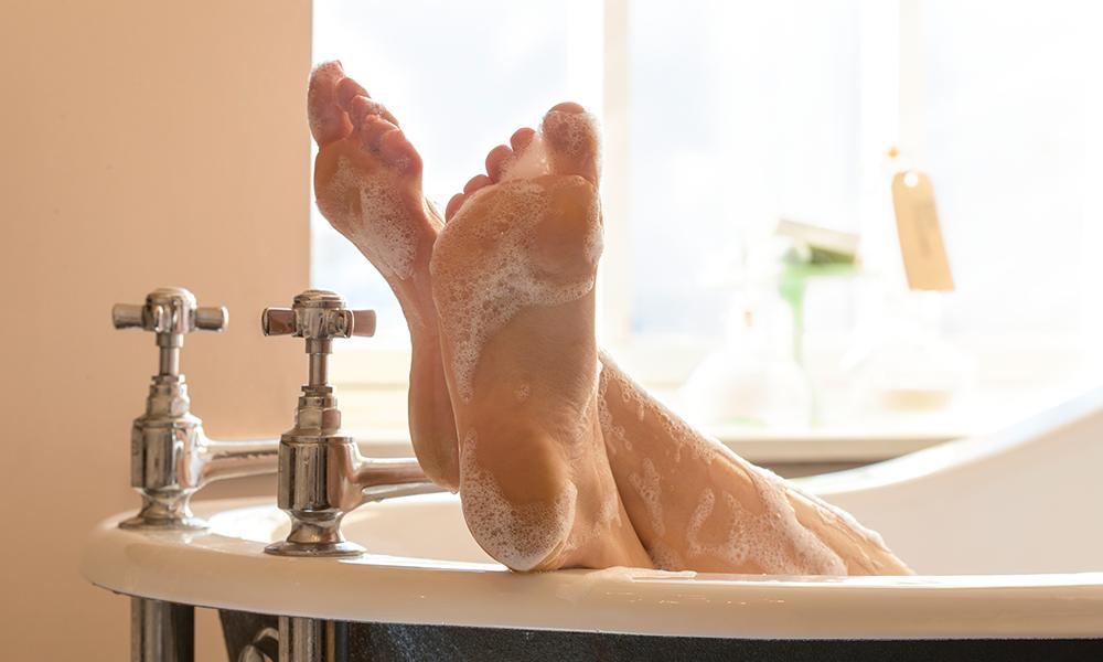beer bath soak foot files