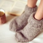 cold winter feet in socks