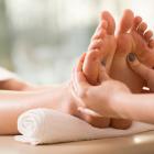 Feet Getting a Massage