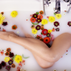 Flower Milk Bath For Legs And Feet