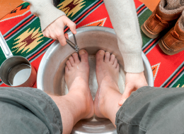 Man Receiving A Pedicure, How To Grow Healthy Toenails