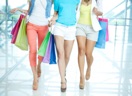 Women Walking In A Shopping Mall