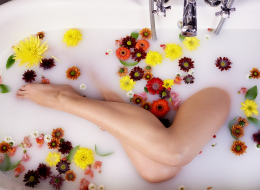 Flower Milk Bath For Legs And Feet