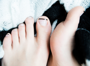Black to Basics: Dark Tips Update A Classic French Pedicure