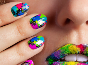 Splatter Ombre Graffiti Polka Dots Scotch Tape Sharpie Nail Art Tricks