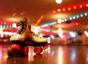 Roller Skates On A Skating Rink