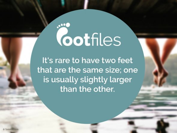 Footfiles Foot Facts Two Feet Different Sizes