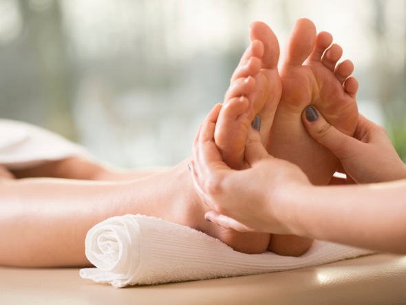 how to take care of sore feet