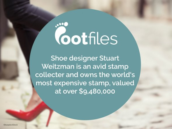 Footfiles Foot Facts Stuart Weitzman Stamp Collecter