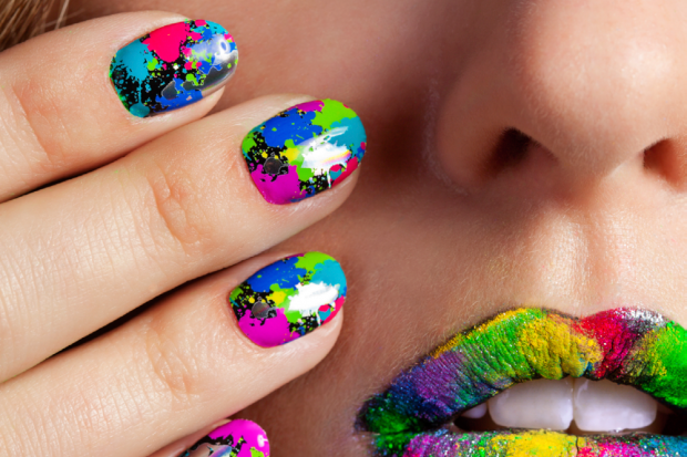 splatter ombre graffiti polka dots scotch tape sharpie nail art tricks - Simple Nail Design Ideas