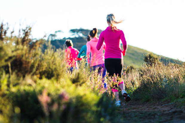 Women Going For A Jog In The Wilderness