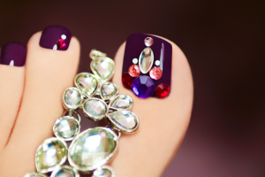 The Best Way to Apply Nail Rhinestones, Studs and Charms