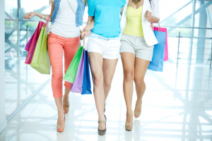 Women Walking In A Shopping Mall